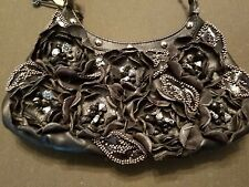 Mary Frances black leather evening bag