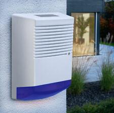 Dummy Burglar Alarm Box -  Dummy Alarm Siren - Blue Lens - Flashing LED light