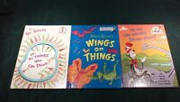 Dr. Seuss, Cat In The Hat Reading Lot of 3 Books in Good Condition