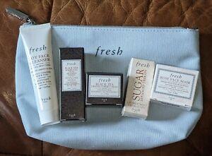 NEW Fresh Lot x 6 Gift Set Black Tea Sugar Lip Treatment Rose Mask Soy Cleanser