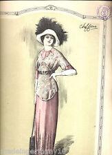 """"""" CHIFFONS """" 1911 franz. Mode Illustrierte gestempelt aus Webschulen Bibliothek"""