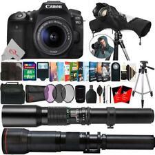 Canon EOS 90D 32.5MP DSLR Camera + 18-55mm, 500mm & 650-1300mm Bundle