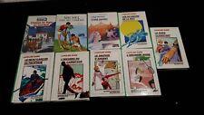 Lot de 9 livres enfant bibliothèque verte Caroline Quine ancien jeunesse