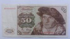 Billet Banknote Bill 50 Deutsche Mark 1960 Nummer spezial !!!