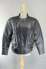 CLASSIC BLACK JT'S LEATHER BIKER JACKET 40 INCH