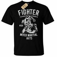 Fighter MMA T-Shirt Mens mixed martial arts boxing