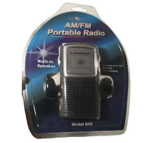 ELECTRO BRAND AM/FM Portable Radio Model 849 Build In Speaker NIB