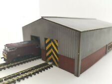 Laser Cut N Gauge Modern Double Train Shed Kit N-SCENIC