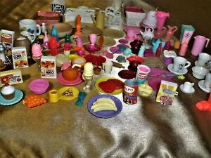 Barbie Food/utensils Accessories Lot.