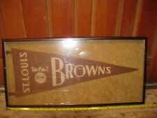1930's St. Louis Browns Pennant Framed