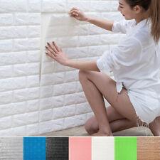 10-Pack 3D Brick Wall Stickers DIY Self Adhesive Decor Foam Waterproof Wallpaper