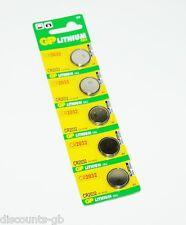 BATTERIE 5x GP cr2032 a bottone al litio batterie - 5 Pack-Auto Remoto Torcia dl2032