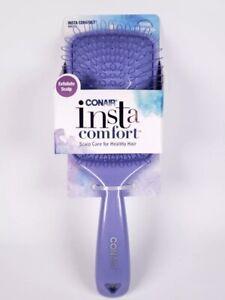 Conair Insta Comfort Scalp Exfoliate Hair Care Brush Purple 86733 Hair Brush