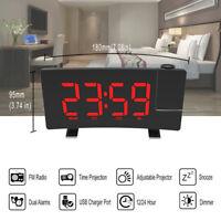 1pc LED Display Clock Digital Desk Clock Alarm Clock for Household Bedroom