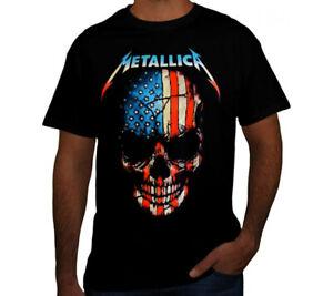 METALLICA AMERICAN SKULL PUNK ROCK Black T Shirt