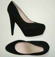 "BNWOT:STUNNING WITTNER BLACK SUEDE PLATFORM HIGH HEELED SHOES 40 ""YACK"""