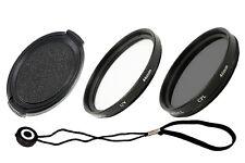 46 mm Set: obiettivo coperchio & Coperchio Supporto & Filtro UV Polarizzatore &