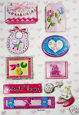 NEW 3D Sticker Scrapbook Embelishment baby girl gift 26