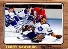 Custom made Topps 1966-67  Toronto Maple Leafs Terry Sawchuk  Hockey  card