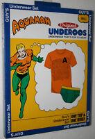 DC Comics Aquaman Original Underoos T-Shirt & Underwear Box Set New Sz Small