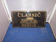 CLASSIC MENTOR Dealer License Plate Frame Inserts PLASTIC Man Cave