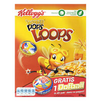 Kellogg's Honey Pops Loops Original Kelloggs Breakfast Cereal 375G