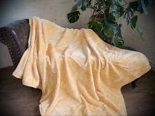 Tagesdecke Kuscheldecke Decke im Glanz-Design honig - gelb 160x200cm