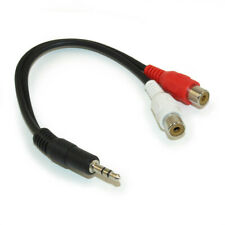 4IN Mini Jack 3.5mm Male Stereo Plug to 2 RCA Female Jack cable
