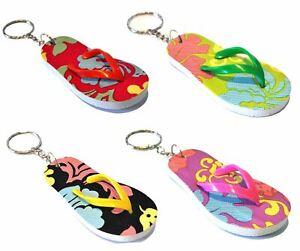Flip Flop Keyring Novelty Colour Sandal Keychain