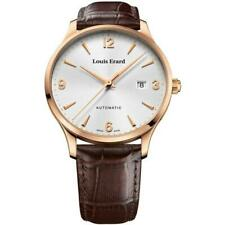 Louis Erard Men's Automatic Watch PVD Rose Gold with Brown Leather strap
