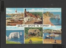 J Salmon Multi View Colour Postcard Beauty Spots in Dorset posted