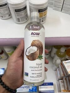 16oz NOW Solutions Liquid Pure Fractionated Coconut Oil for Hair Skin Nourishing