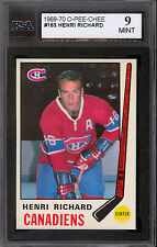 1969 70 OPC O PEE CHEE HOCKEY #163 HENRI RICHARD KSA 9 MINT MONTREAL CANADIENS