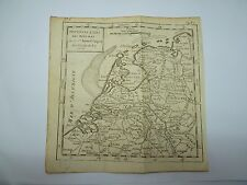 Antique 1750 Robert de VAUGONDY Woodblock Map - Netherlands - Buffier 17 x 17 cm
