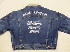 *BLUE SYSTEM JEANS JACKE*3 LÖWEN*VINTAGE*DUNKEL BLAU*STONE WASH*GR: XL*TIP TOP