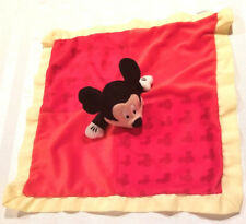Disney Mickey Mouse Baby Small Blanket Red Yellow by Disney Baby 13×13 inches