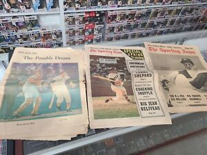 BOSTON GLOBE April 7 1968 SPORTING NEWS March 2 1968 RED SOX Newspapers