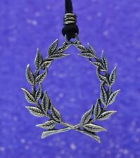 Laurel Wreath Pendant | Fine Pewter Made in the Usa by Treasure Cast