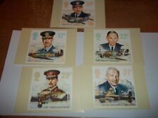 The Royal Air Force 16 september 1986 PHQ 97 set Royal Mail Stamp Card Series