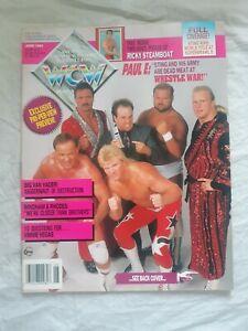 WCW Magazine June 1992 Sting Steve Austin Rare No Poster
