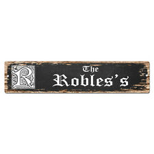 SPFN0489 The ROBLES'S Family Name Street Chic Sign Home Decor Gift Ideas