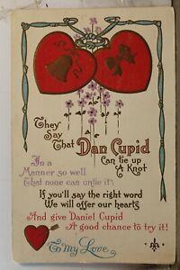Valentine Dan Cupid To My Love Postcard Old Vintage Card View Standard Souvenir