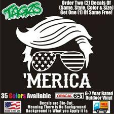 Trump Merica Funny Diecut Vinyl Window Decal Sticker Car Truck Suv Jdm