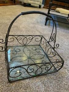 Southern Living Jamestown Metal Basket Centerpiece Excellent