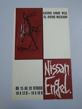 AFFICHE NISSAN ENGEL GALERIE ANDRE WEIL LITHOGRAPHIE 39X63 cm