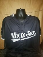 Chicago White Sox Mens XL SGA Black Star Button Jersey SGA Giveaway Promotion