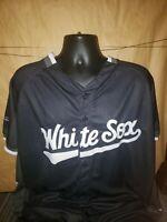 Chicago White Sox Mens XL SGA Black Star Button Jersey SGA Giveaway Promotion