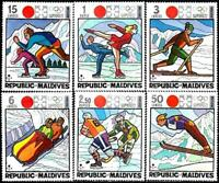 MALDIVES 1972 SAPPORO WINTER OLYMPICS SC#395-400 MNH SPORTS