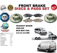 Para Peugeot Boxer Bus 2006- 280mm Discos Freno Delantero Set + Pastillas de Kit