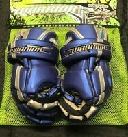 "NEW WARRIOR ROCKSTAR 12"" LACROSSE GLOVES BLUE & SILVER"